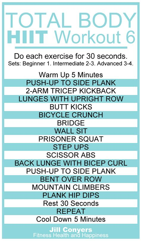 total no excuses hiit workout 6 conyers