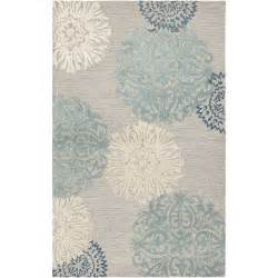 gray and blue area rug rizzy rugs etta light gray amp blue floral area rug