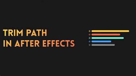 tutorial after effects path trim path after effects tutorial 2017 youtube