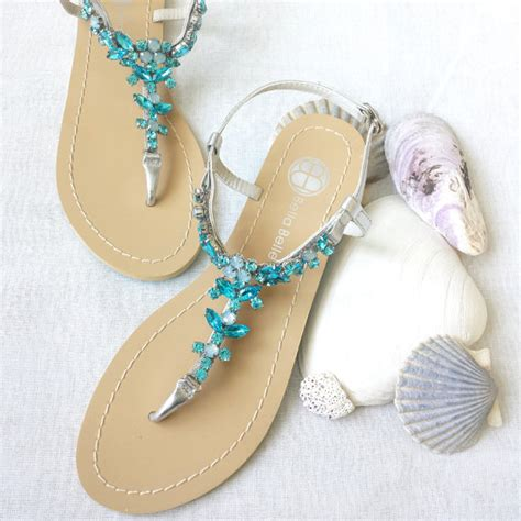 sandals for wedding something blue ombre wedding sandals shoes for