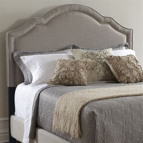 Upholstered Nailhead Headboard by Pri Upholstered Nailhead King Headboard In Taupe Ds 2286 270