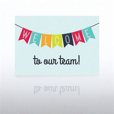 Onboarding Greeting Card Welcome Banner At Baudville Com Welcome New Employee Sign Template