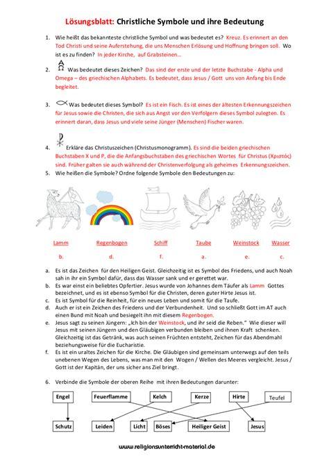 Symbole Und Ihre Bedeutung 5486 by Unterrichtsmaterial Religion Christliche Symbolik