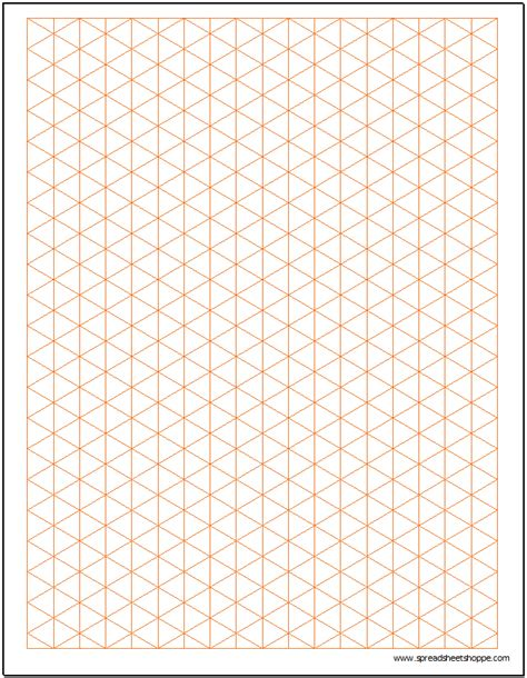 drawing paper template isometric graph paper template spreadsheetshoppe