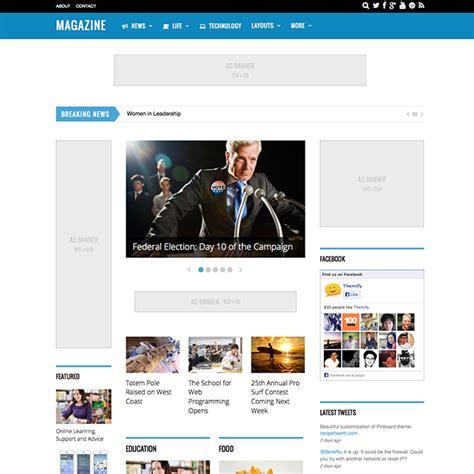 wordpress themes free one column 10 best photos of 3 column wordpress theme news 3 column