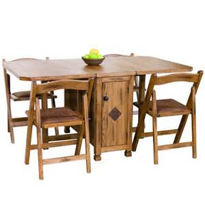 Folding Table And Chair Sets Dining Sedona Rustic Oak Five Dinette Set Drop Leaf