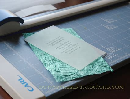 pre cut tissue paper for wedding invitations make your own wedding invitations