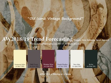 autumn winter 2018 2019 trend forecasting is a trend color