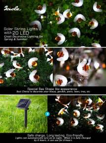 bumble bee string lights bumble bee shape solar powered string lights 20 led