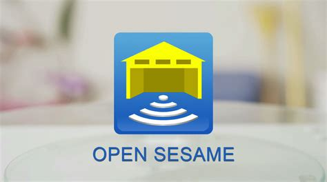 open sesame open sesame smart phone garage door opener