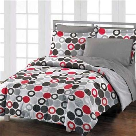 gray and red bedding modern chic red grey black twin comforter set girls boys