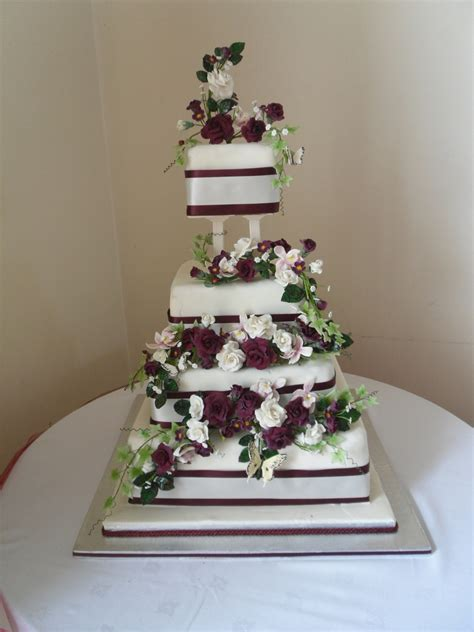 Wedding Cake Gum by Wedding Cake With Gum Paste Flowers Cakecentral