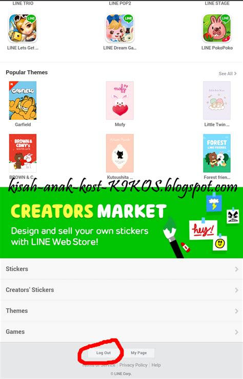 Theme Line Pulsa Xl | kisah anak kost kikos cara membeli sticker line via