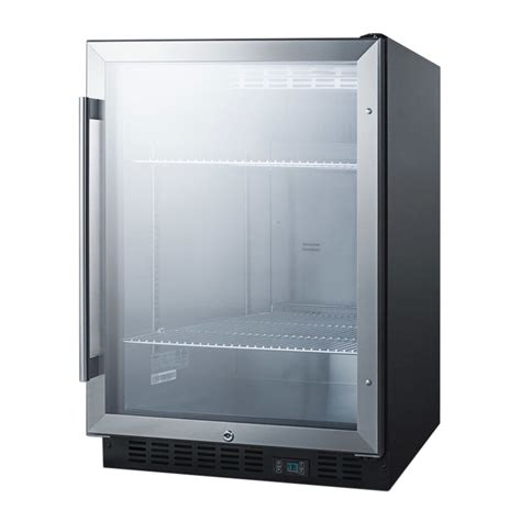 bar refrigerator glass door summit scr610bl 24 quot 1 section bar refrigerator