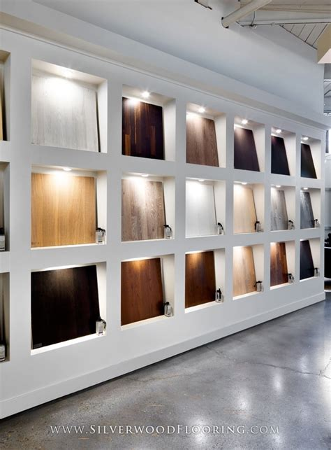 design photo wall display silverwood flooring showroom karelia wall silverwood