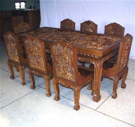 carved dining tables sets jodhpur handicrafts used