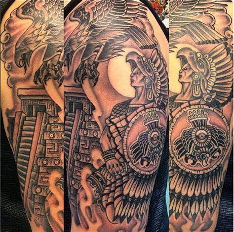 aztec warrior tattoos collections
