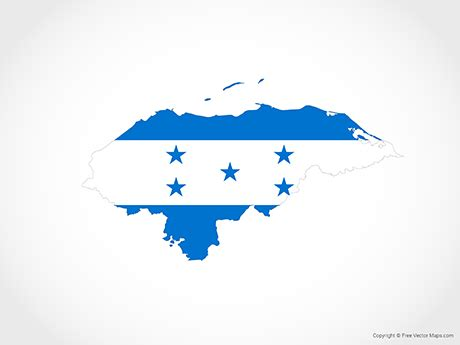 vector map  honduras flag  vector maps