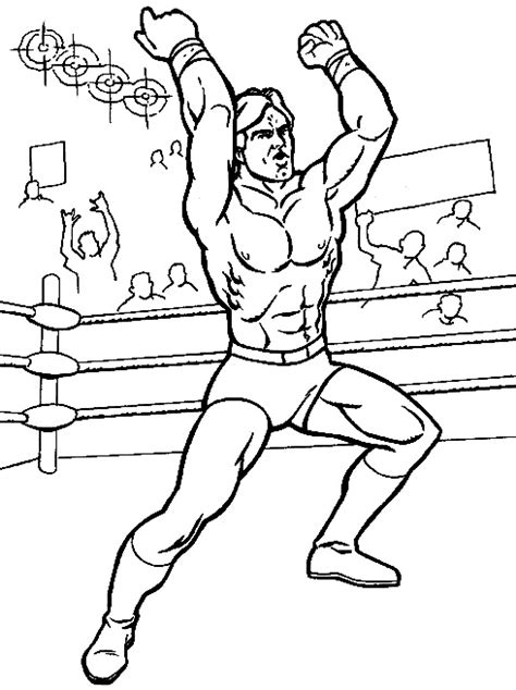 Printable Wwe Coloring Pages Coloring Me Wrestler Coloring Pages