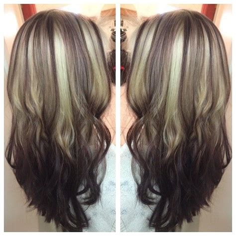 reverse ombre highlights reverse ombr 233 shiny blonde to brown with red highlights