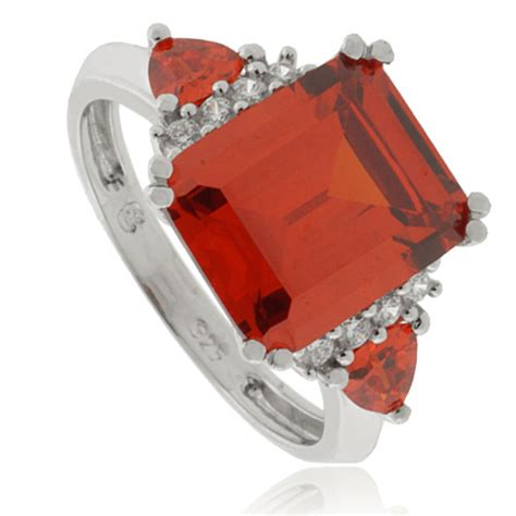 emerald cut opal silver ring