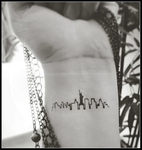 new york city tattoo new york skyline temporary tattoos tattoos new