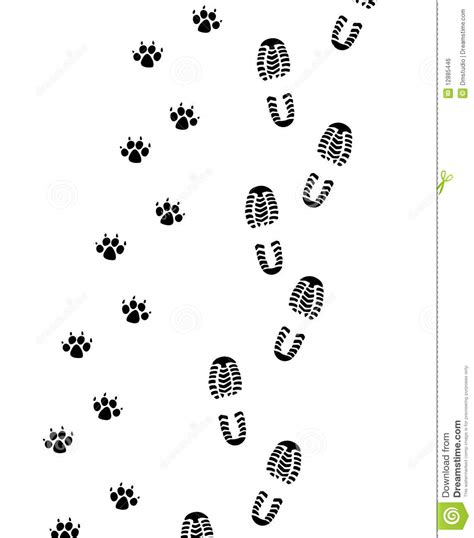 foot prints of man and dog royalty free stock image
