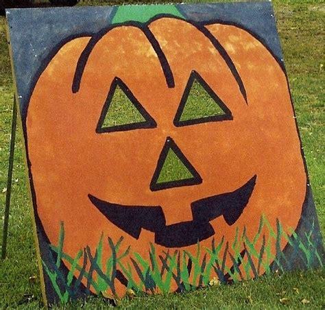 pumpkin bean bag toss halloween pinterest
