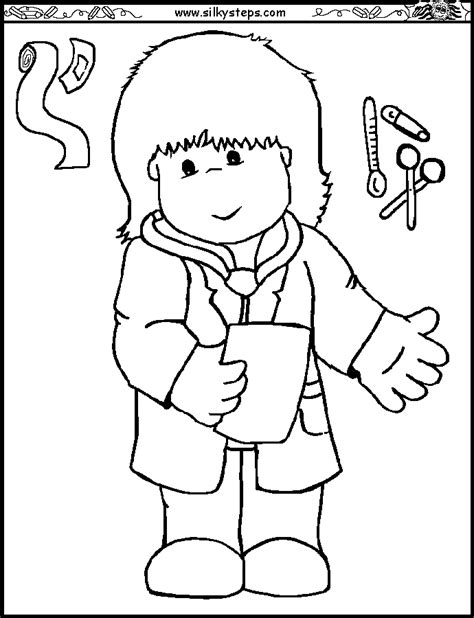 preschool coloring pages nurse nurse coloring pages for preschool coloring pages
