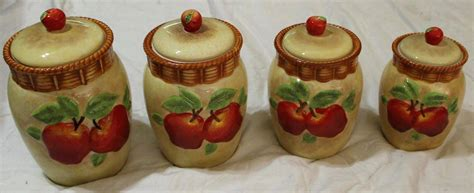 apple canisters for the kitchen kitchen accessories apple ceramic decorative kitchen canisters ceramic kitchen canister sets