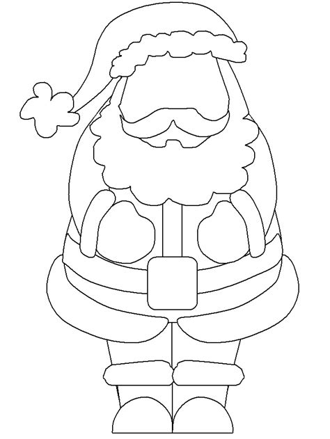 templates for santa claus coloring pages