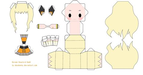 Vocaloid Papercraft - chibi vocaloid seeu papercraft by tsunyandere on deviantart