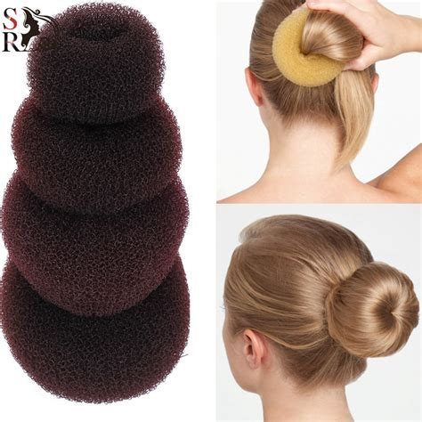 Hairstyle Bun Accessories by 1pc Plate Hair Donut Bun Maker Magic Foam Sponge