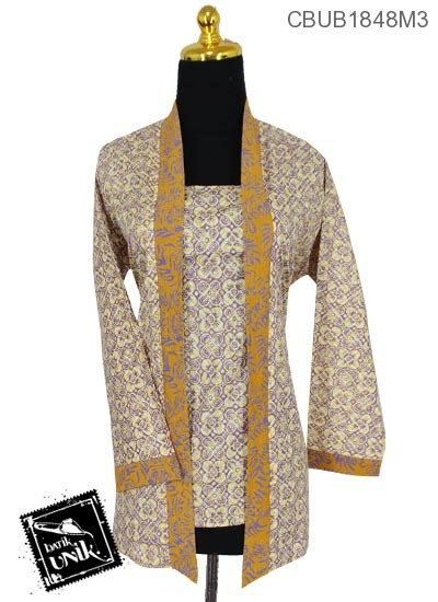 Blus Batik Kutu Baru Embos Kode Ba6639 blus batik kutu baru panjang motif bunga anyam warna