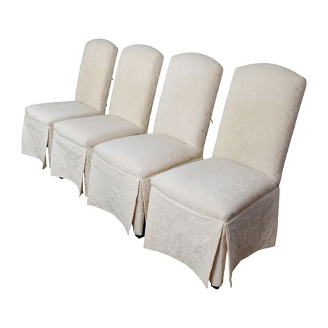 upholstered recliners 90 off thomasville thomasville ivory upholstered dining