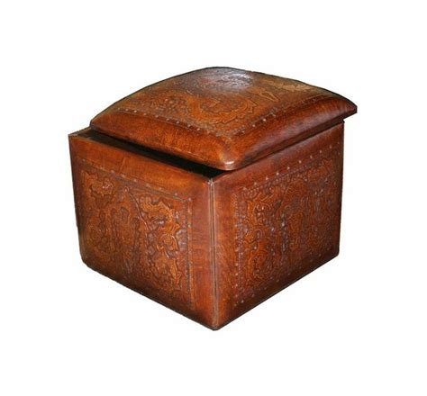 leather ottoman cube colonial leather box cube ottoman