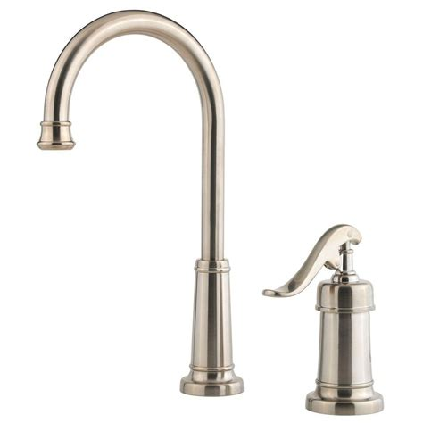 pfister ashfield single handle bar faucet in brushed