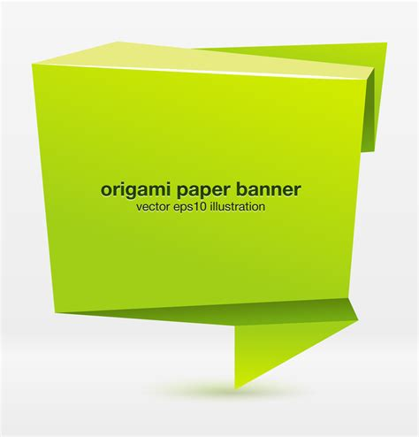 How To Make A Paper Banner - banner vector origami free vector