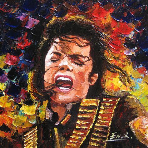 painting michael jackson original palette knife painting michael jackson painting