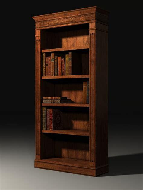 libreria 3ds 3d bookcase books model