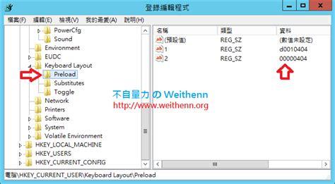 keyboard layout preload 徹底解決 windows server 2012 r2 惱人的輸入法問題 不自量力 の weithenn