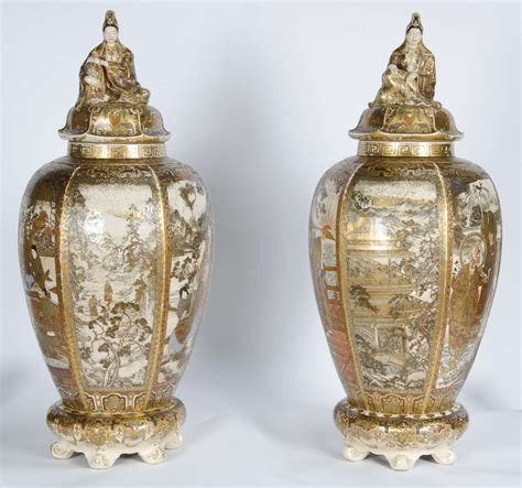 Satsuma Vases For Sale by Large Pair Of Antique Satsuma Vases For Sale At 1stdibs