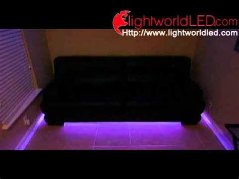 sofa with lights underneath led lighting