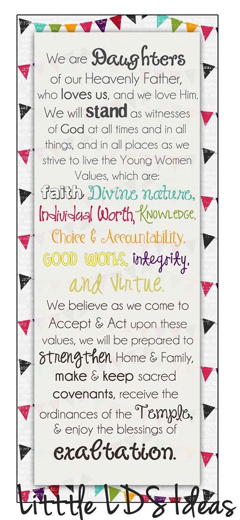 bookmark themes mormon share personal progress young women theme