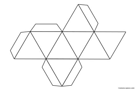 foldable pyramid template file foldable octahedron blank jpg wikimedia commons