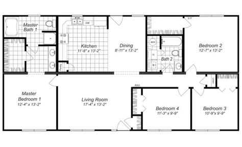 free 4 bedroom house plans and designs archives new home