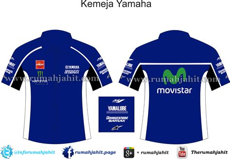 Kemeja Yamaha Merah Moviestar desain seragam 2018 mei 2015