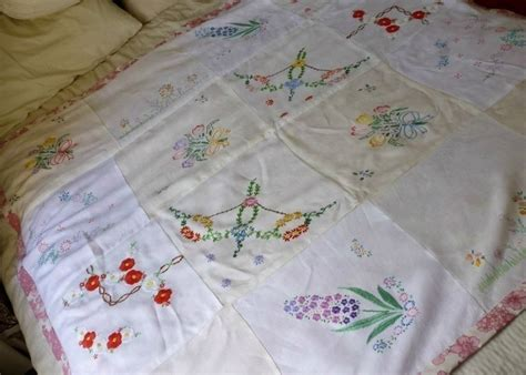 How To Make A Patchwork Throw - embroidered tablecloth patchwork throw 183 how to make a