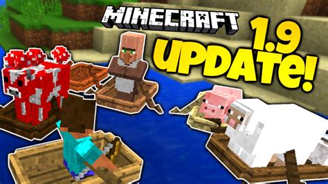 minecraft 1 9 news new boats oars survival updates - Minecraft Boat Oar
