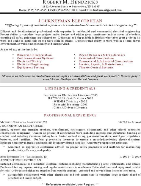 electrician resume templates free premium